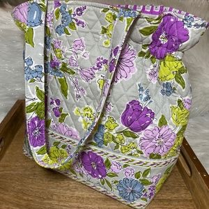 Vera Bradley Quilted Floral Print Small Tote Bag